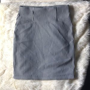 ASOS Striped mini / mid thigh skirt Size 2